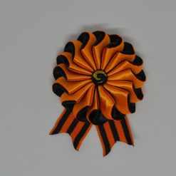 """2a kanzaschi 247x247 - Брошь из георгиевской ленты """"Канзаши"""""""