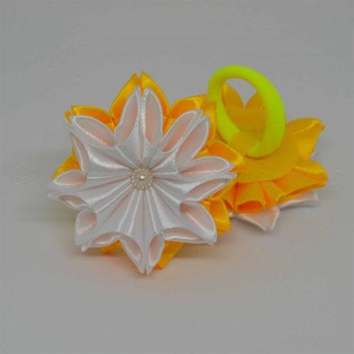 """62bc zimnij tsvetok 510x510 - Резинки для волос """"Зимний цветок"""""""