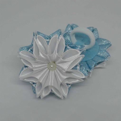 """62cc zimnij tsvetok 510x510 - Резинки для волос """"Зимний цветок"""""""
