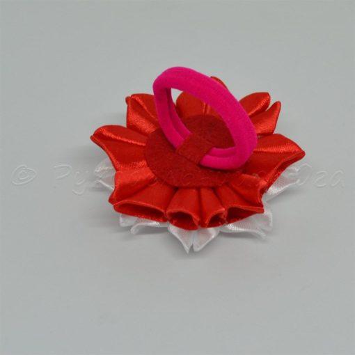 """62db zimnij tsvetok 510x510 - Резинки для волос """"Зимний цветок"""""""